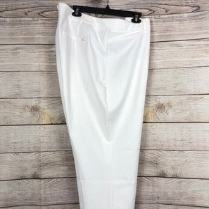 WHBM Slim Ankle White Pants
